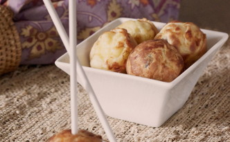 Apple Croquettes with Sausage and Gouda