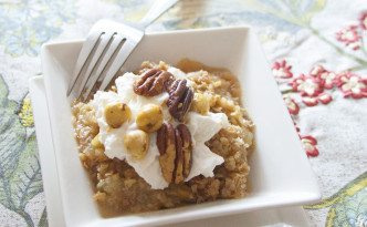 curried apple pear crumble